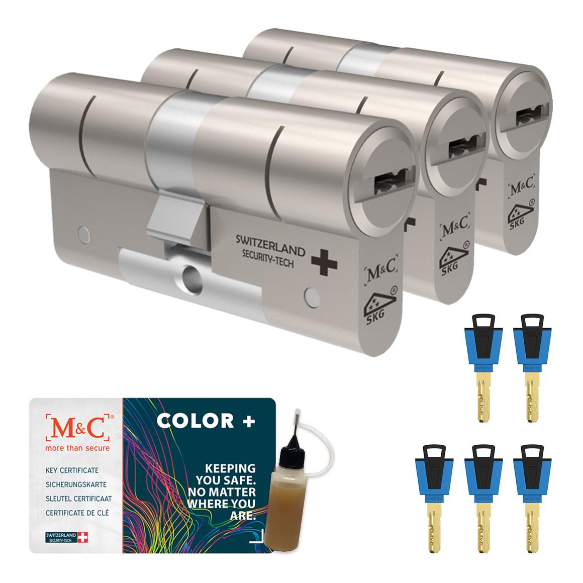 Afbeelding van Cilinderslot M&C Color+ (3 stuks)