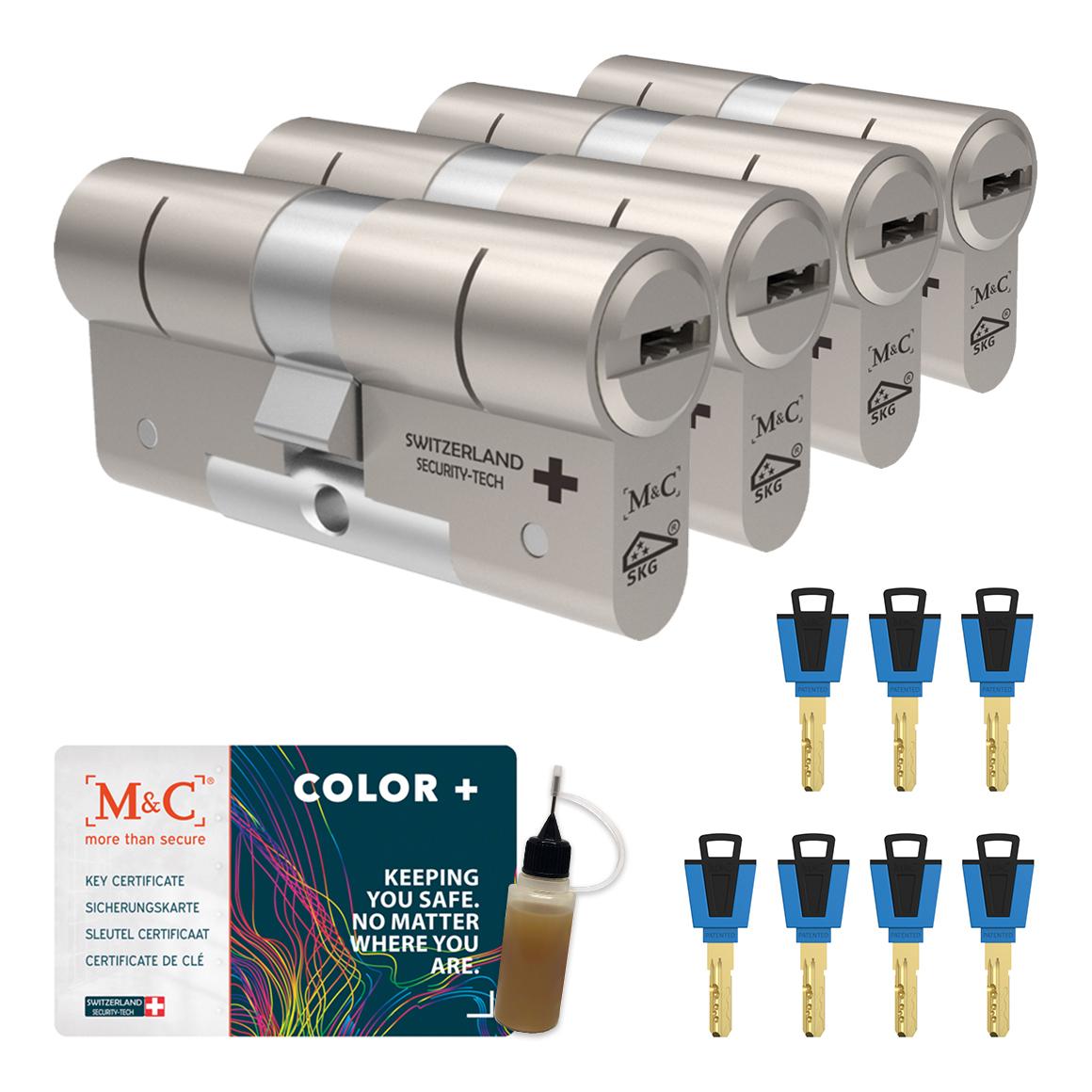 Afbeelding van Cilinderslot M&C Color+ (4 stuks)