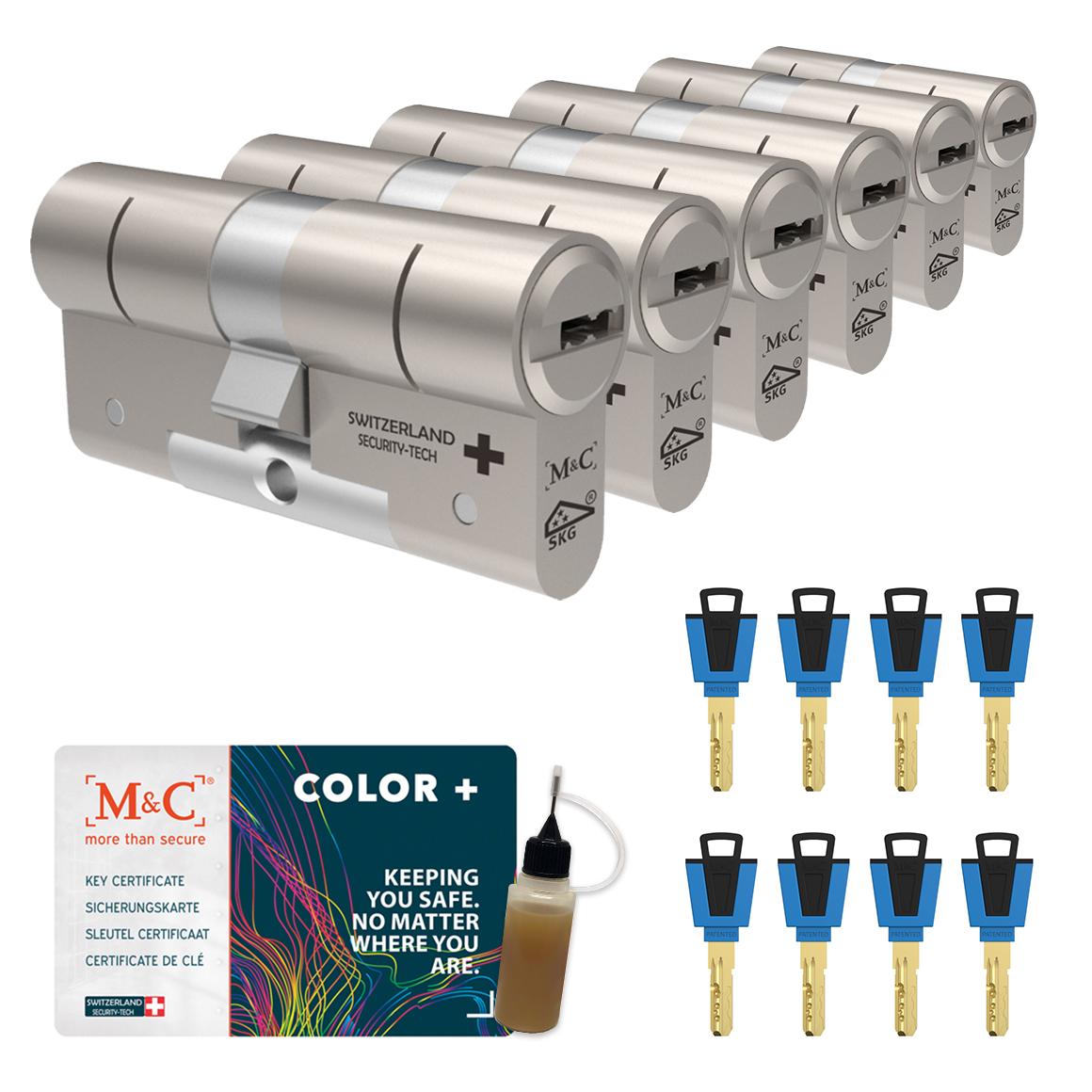 Afbeelding van Cilinderslot M&C Color+ (6 stuks)