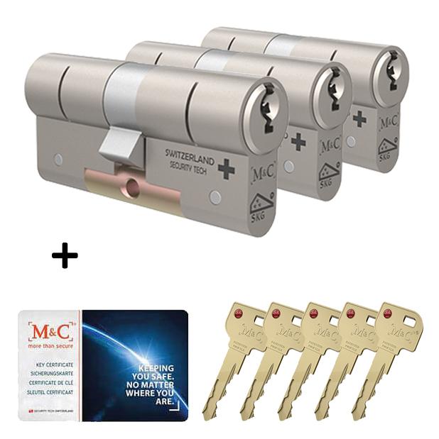 Afbeelding van Cilinderslot M&C Matrix (3 stuks)